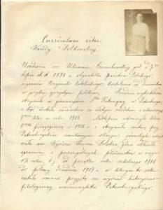 Życiorys Babci Wandy Polkowskiej odnaleziony w Archiwum UW