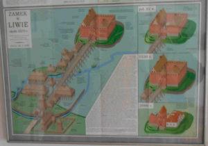 Wygląd zamku Liw w różnych okresach