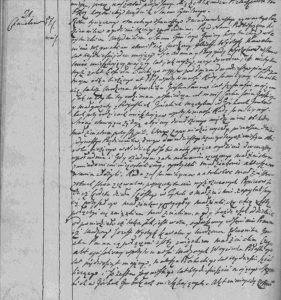 Zdjęcie aktu ślubu Józefa Wyrzyka z 1818 roku