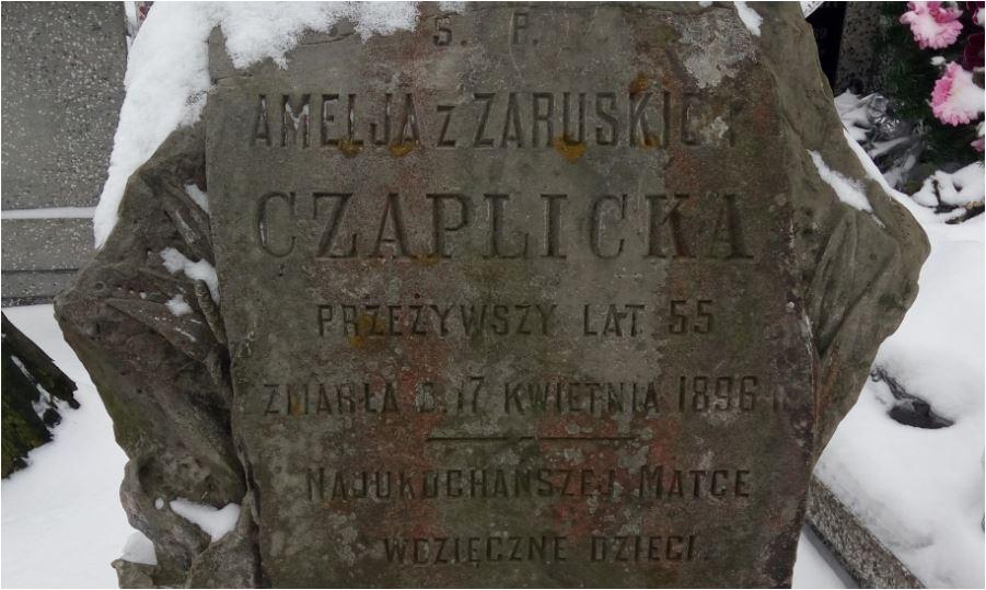 Prawda genealogiczna - grób Amelii z Zaruskich Czaplickiej