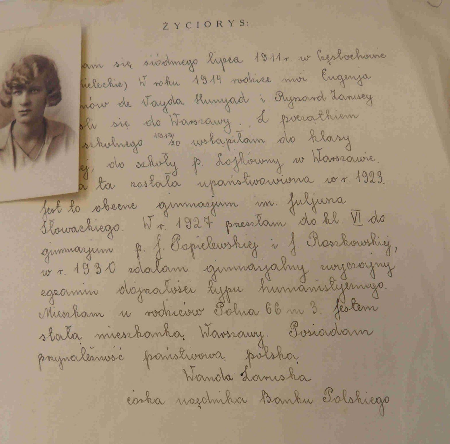 Archiwum SGH życiorys Wandy Zaruskiej