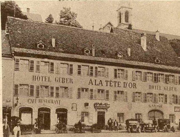 Zdjęcie budynku Hotelu Geber w Altkirch rok 1923
