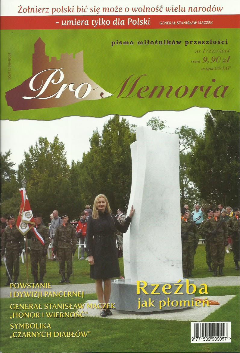 Okładka pisma Pro Memoria poświęconego I Dywizji Pancernej
