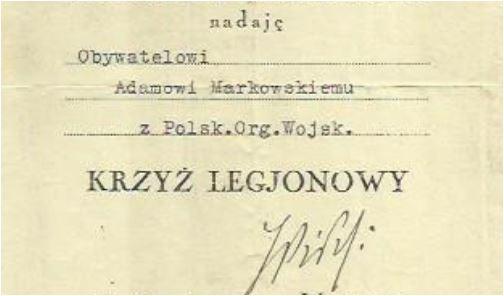 Nadanie Krzyż Legionowy OW