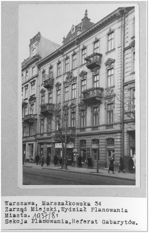 Skład Karola Güthner nr 34 Marszałkowska, róg Złotej