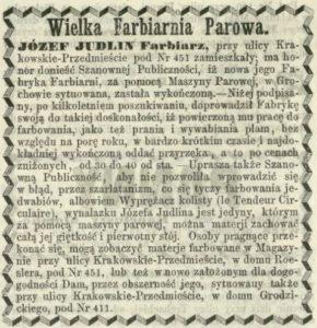 Nowa farbiarnia parowa Judlina 1862 w Grochowie