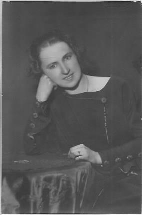 Wanda Polkowska-Markowska z okresu pracy w gimnazjum Anny Wazówny w Warszawie
