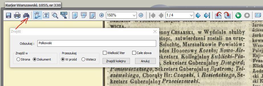 Poszukiwania genealogiczne w gazetach -wyszukiwarka