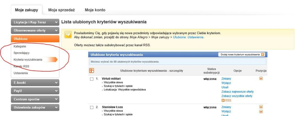 Poszukiwania genealogiczne w książkach - ulubione na Allegro