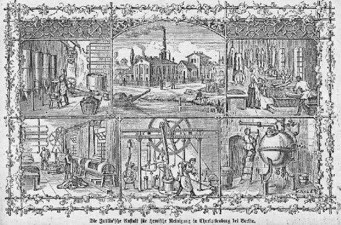 Pralnia chemiczna Judlina w Charlottenburgu 1870 rok.