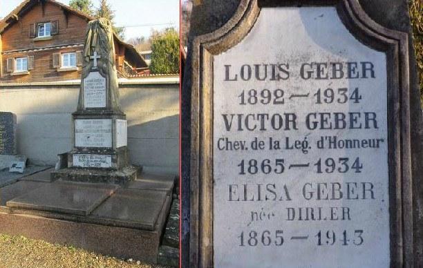 Poszukiwania genealogiczne we Francji grób Geberów w Altkirch