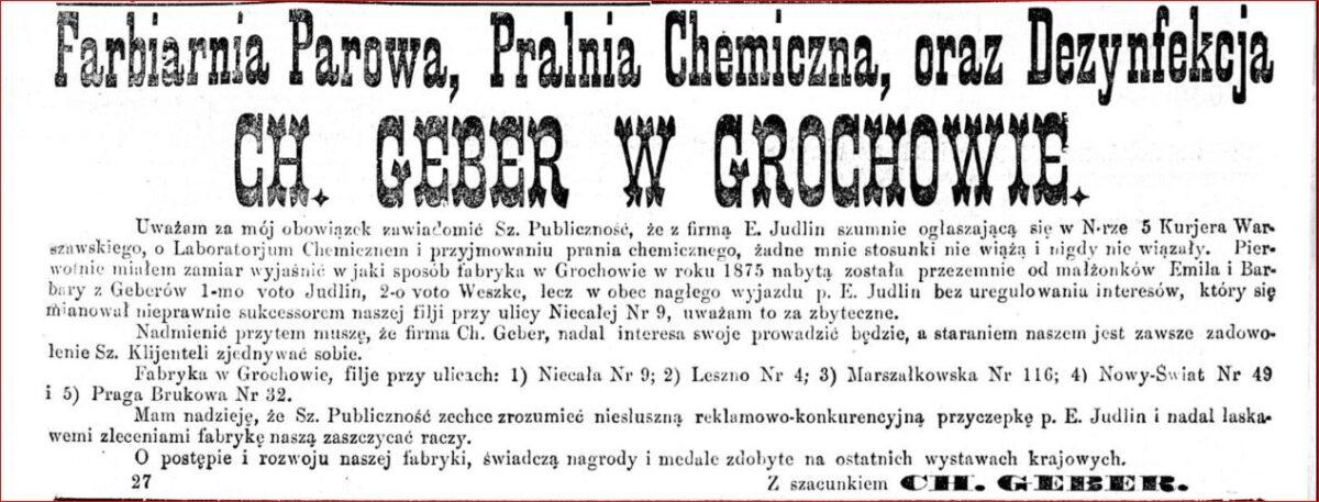 Afera - wyjaśnienie Ch. Gebera