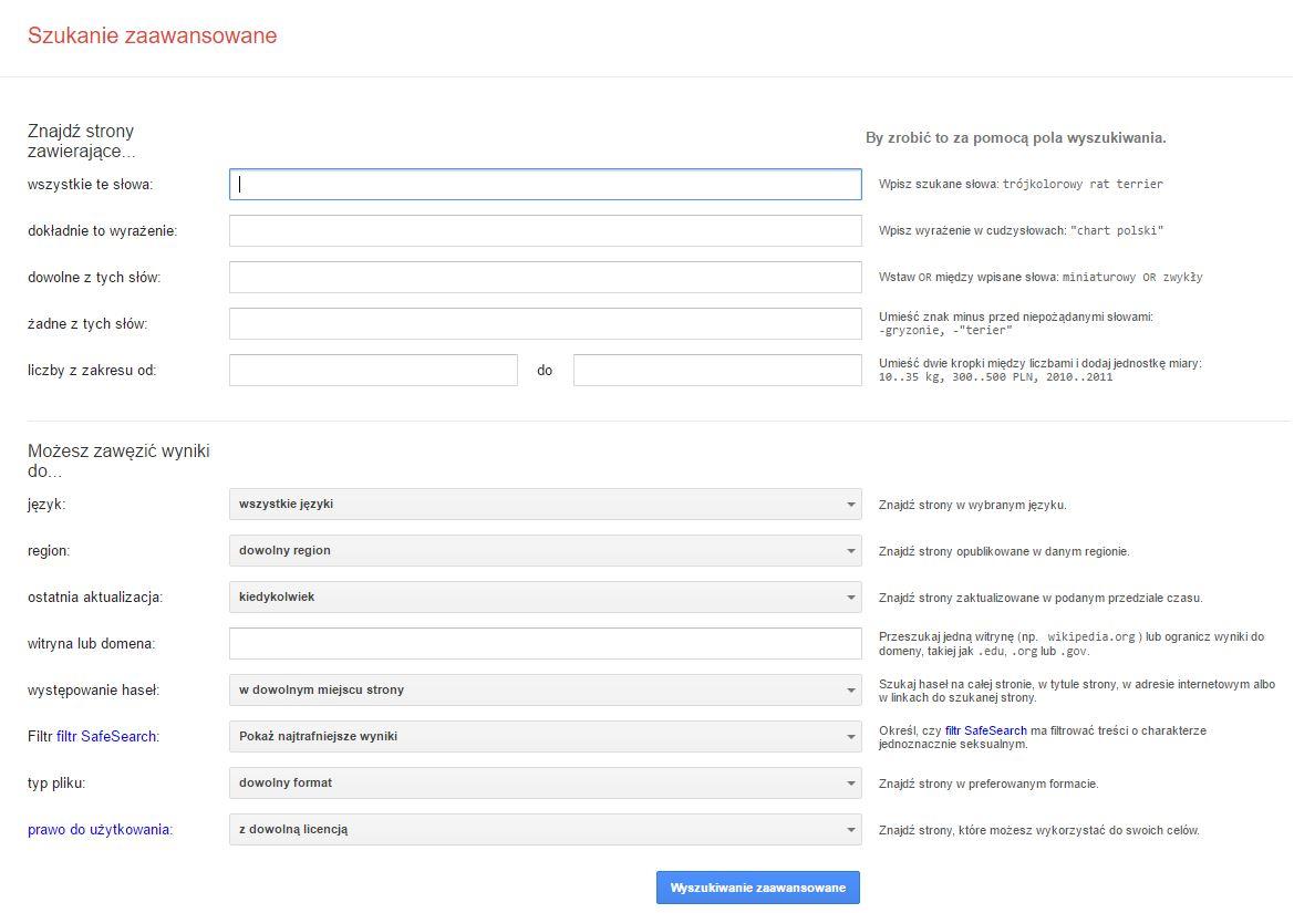Poszukiwania genealogiczne z pomocą Google