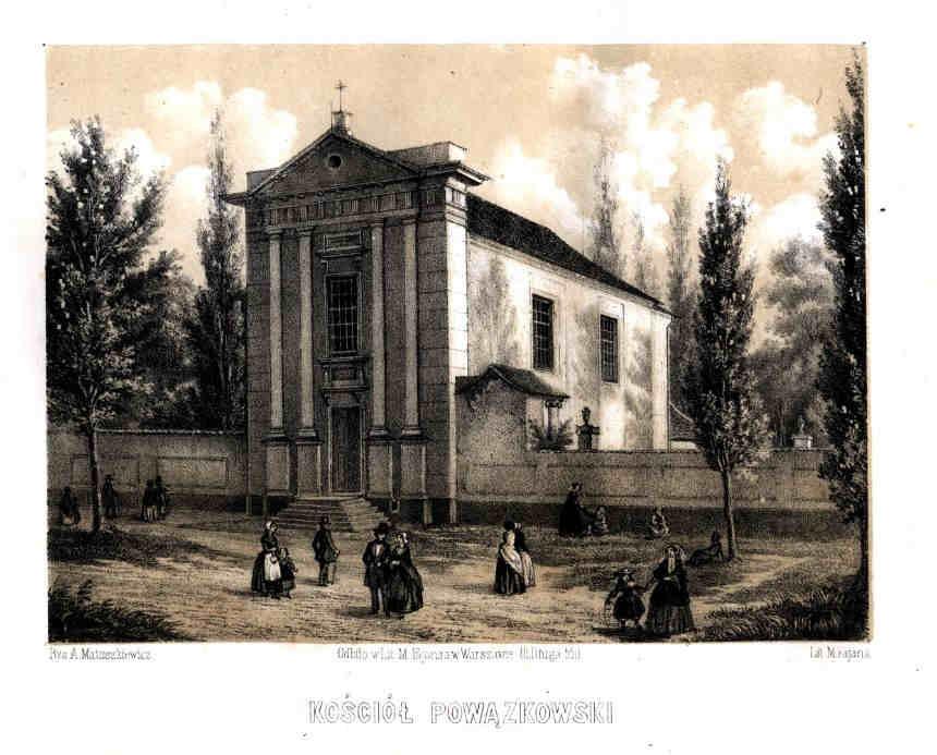 Cmentarz powązkowski kościół