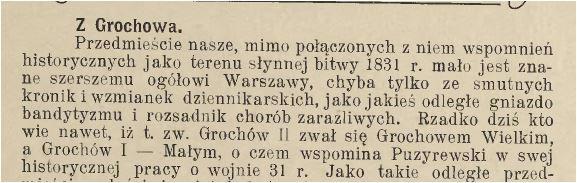 Grochów mały wielki fabryka Geberów Echo Pragi 1916