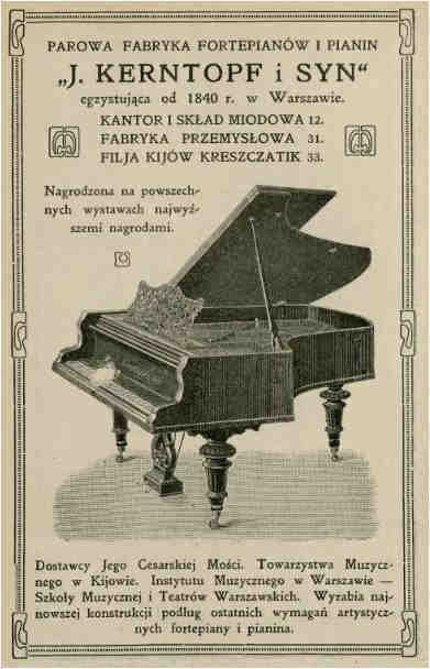 Jan Kerntopf – opiekun Ignacego Paderewskiego fortepian