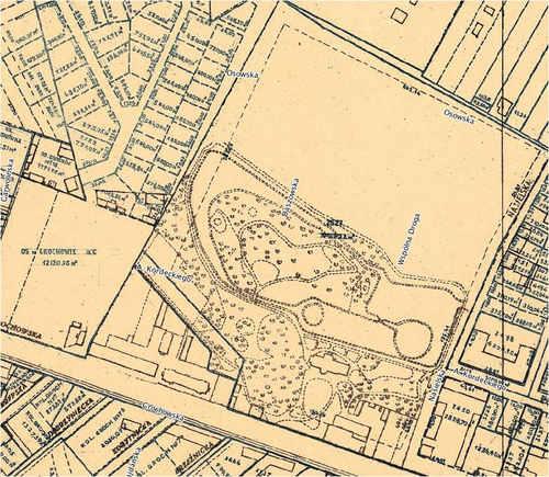Mindszenty i Ogrody Laubera w Grochowie 1936