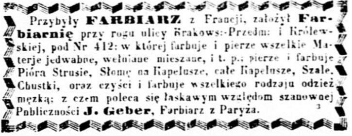 ean Geber (1826-1902) Ogłoszenie 1858 czerwiec