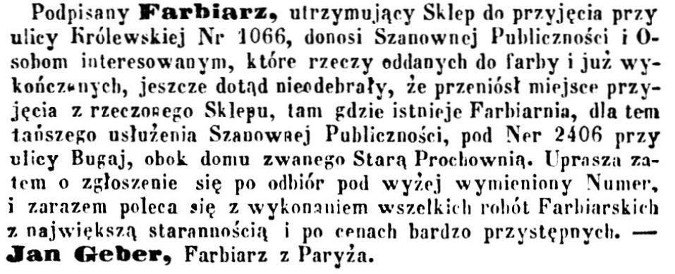 Jean Geber (1826-1902) Ogłoszenie 1861