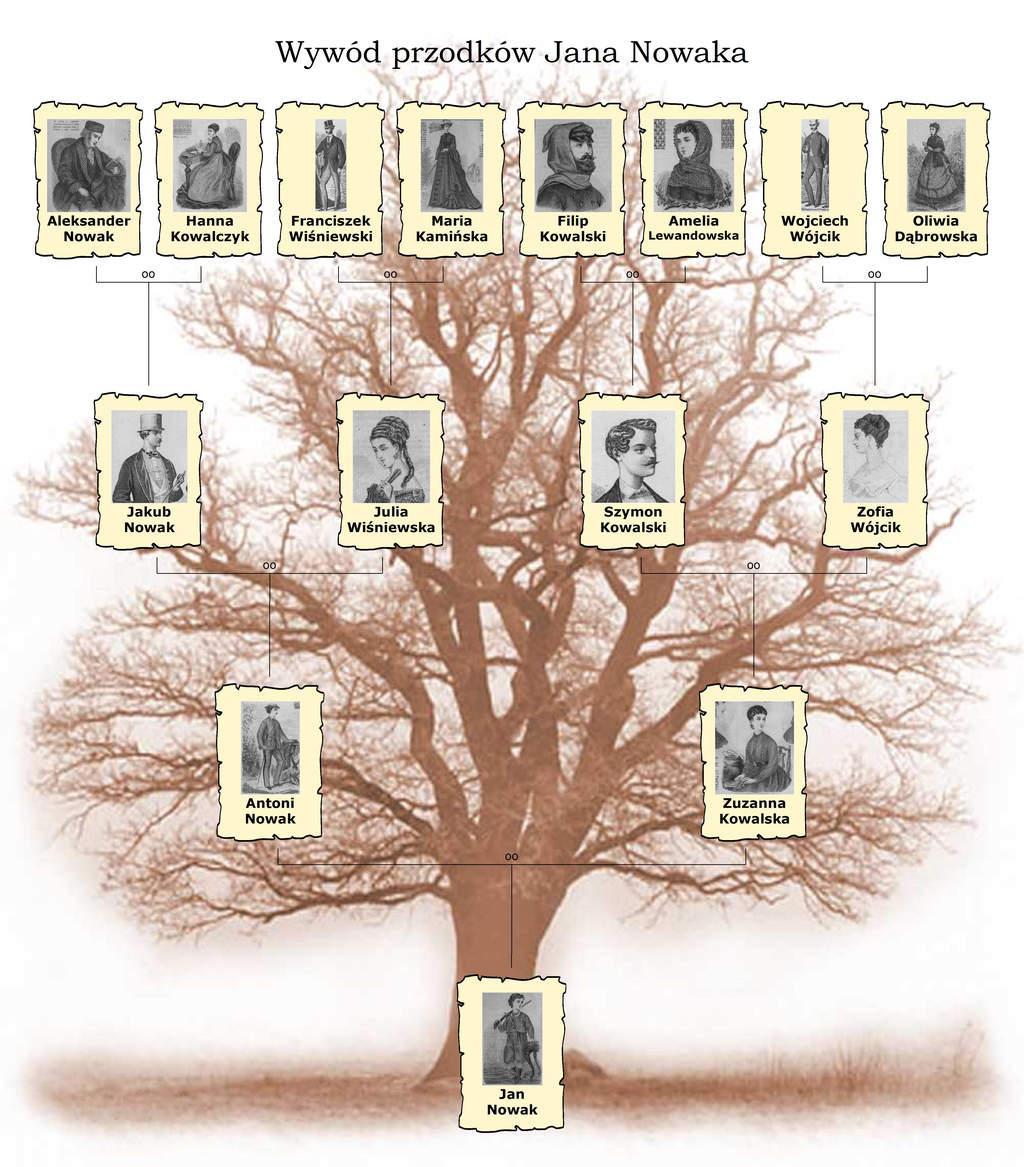 Drzewo Genealogiczne portrety przodków - Wywód przodków
