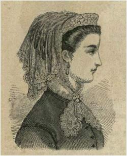 Drzewo genealogiczne portrety przodków kobieta lata 60-te XIX wieku