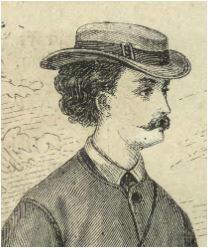 Drzewo genealogiczne portrety przodków mężczyzna lata 60-te XIX wieku