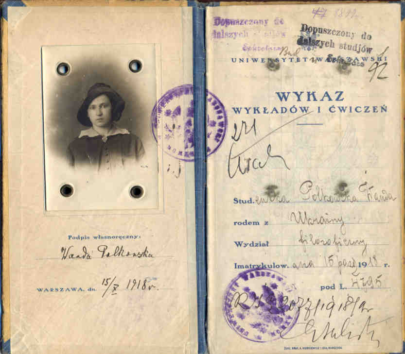 Wanda Polkowska-Markowska Indeks Uniwersytetu Warszawskiego