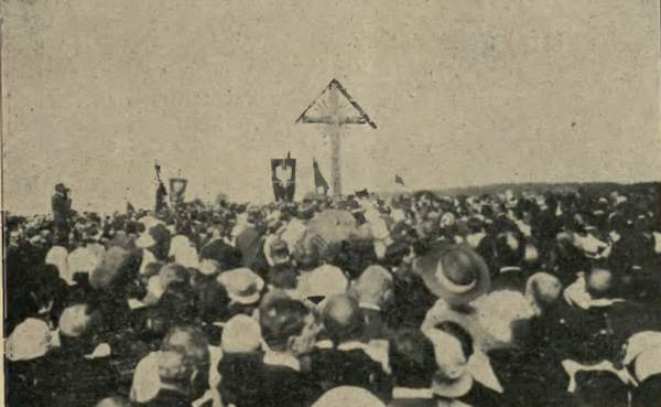 Olszynka Grochowska, bitwa i jej upamiętnienie Krzyż upamiętniający Bitwę pod Olszynką Grochowską