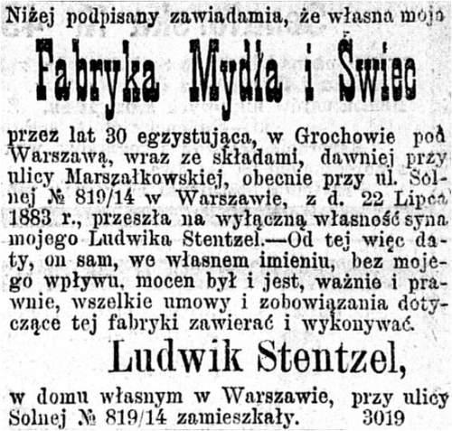 Stentzel - mydlarze z Grochowa