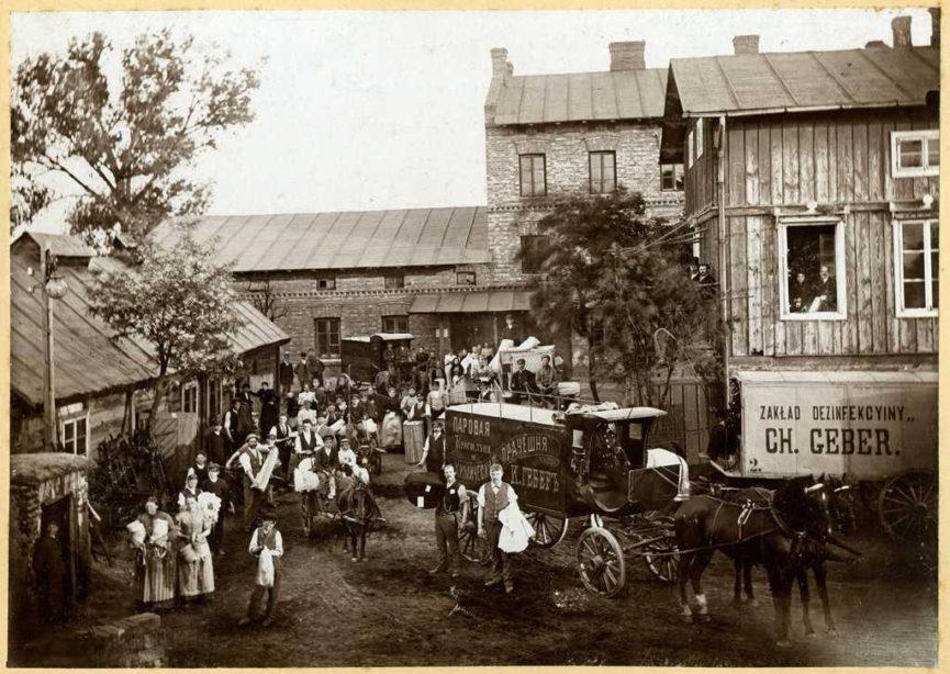 Najbardziej znana fotografia Pralni Chemicznej i Farbiarnii Parowej Geberów