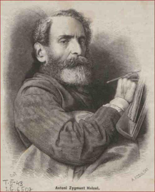 Antoni Zygmunt Helcel jeden z pierwszych krakowskich posłów do Sejmu Krajowego Galicji.Rys. Aleksander Regulski
