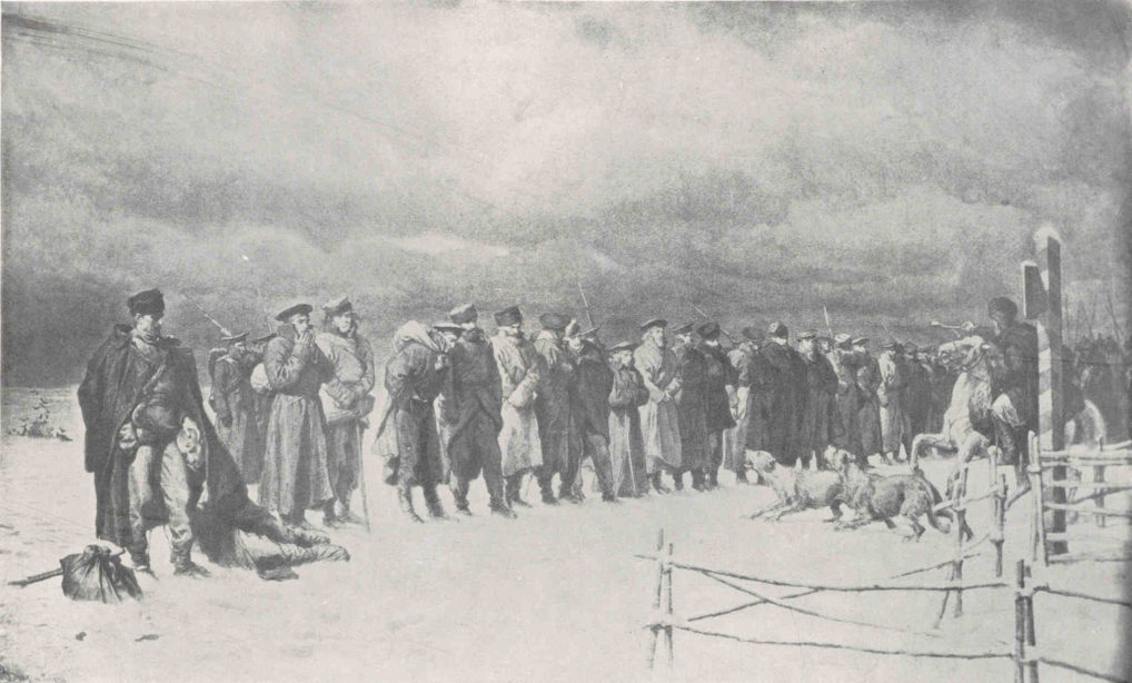 Artur Grottger Pochód na Sybir