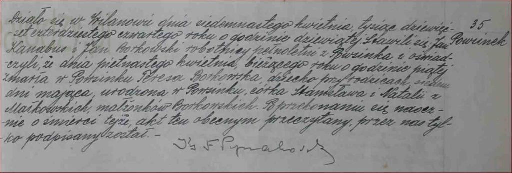 Historia XIX wieku dla historyków rodzin akt zgonu 1944