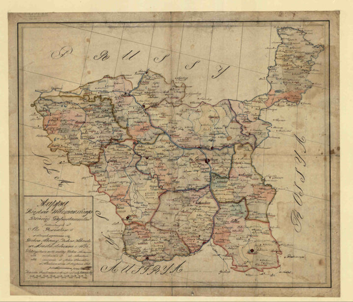 Mapa Xięstwa Warszawskiego
