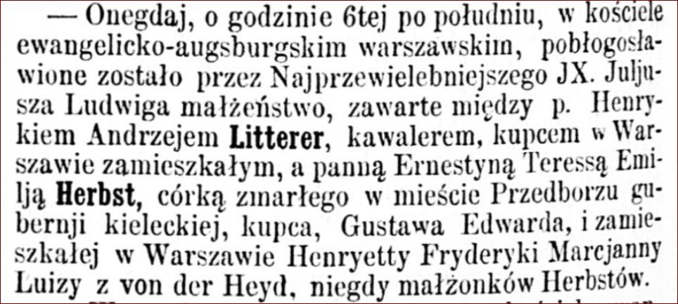 ślub Andrzej Litterer i Emilia Herbst