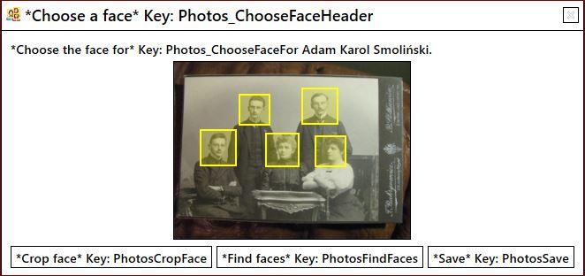 My Family Tree rozpoznawanie twarzy