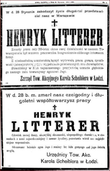 Nekrologi Henryk Litterer
