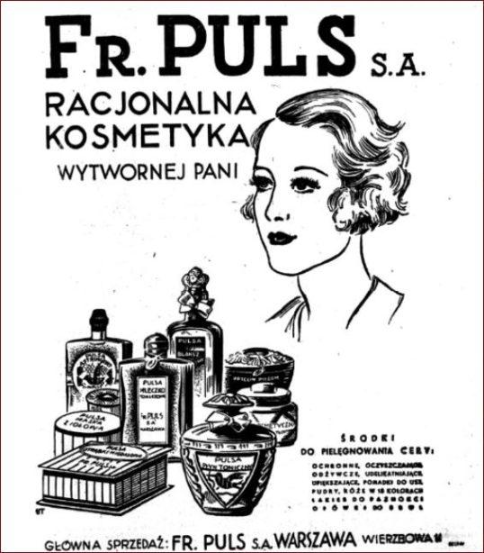Reklama Racjonalna kosmetyka wytwornej Pani FR PULS S.A.