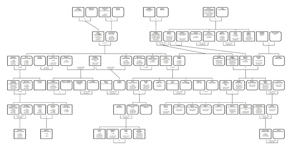 Koligacje rodzinne Klementyny Nepros z domu Adolph
