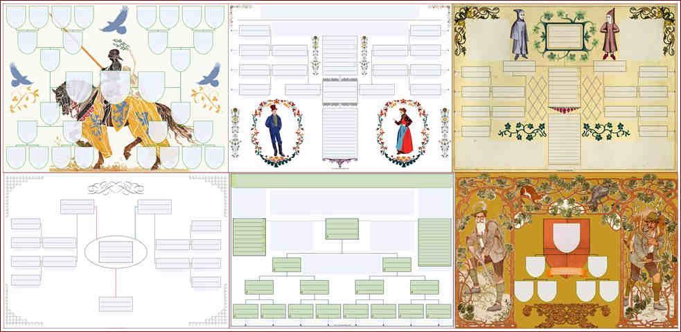 Drzewo genealogiczne - wzory jak narysować drzewo genealogiczne