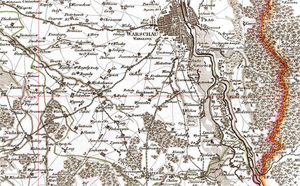 Mapa zaboru pruskiego David Gilly Historia XIX wieku