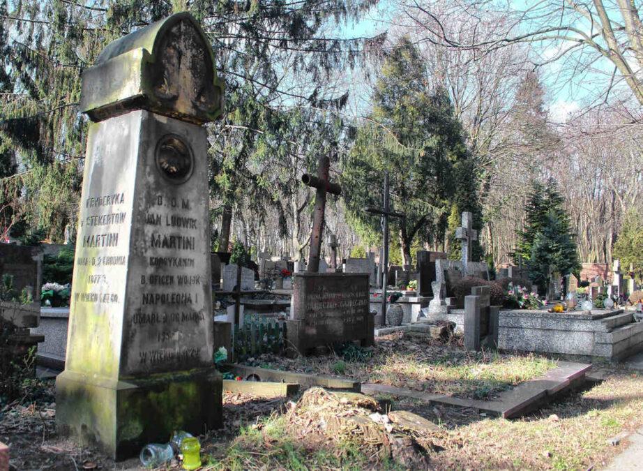 Jan Ludwik Martini grób na cmentarzu Ewangelicko-Augsburskim
