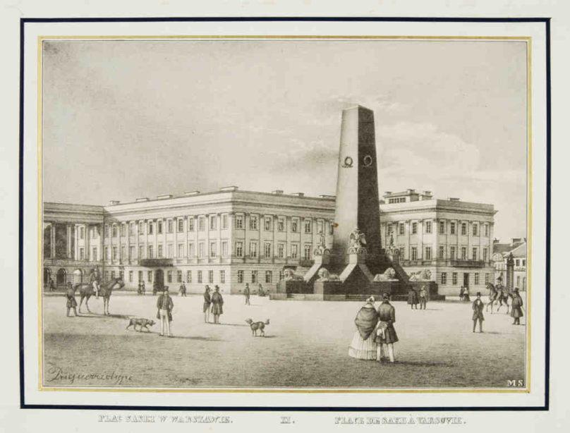 Plac Saski w Warszawie Maurycy Scholtz