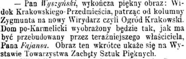 Wyszyński notatka w Kurierze Warszawskim