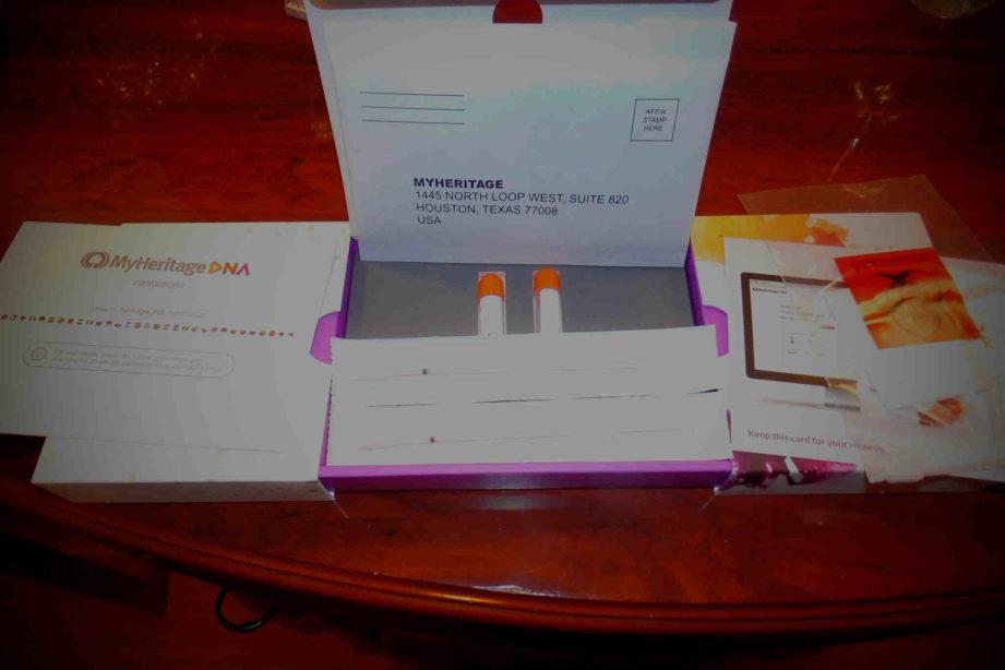 Mój test DNA z MyHeritage po rozpakowaniu