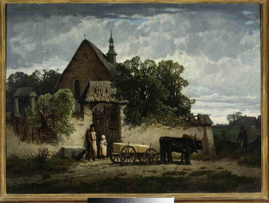 Epidemie Pogrzeb chłopski Józef Szermentowski Muzeum Narodowe w Warszawie