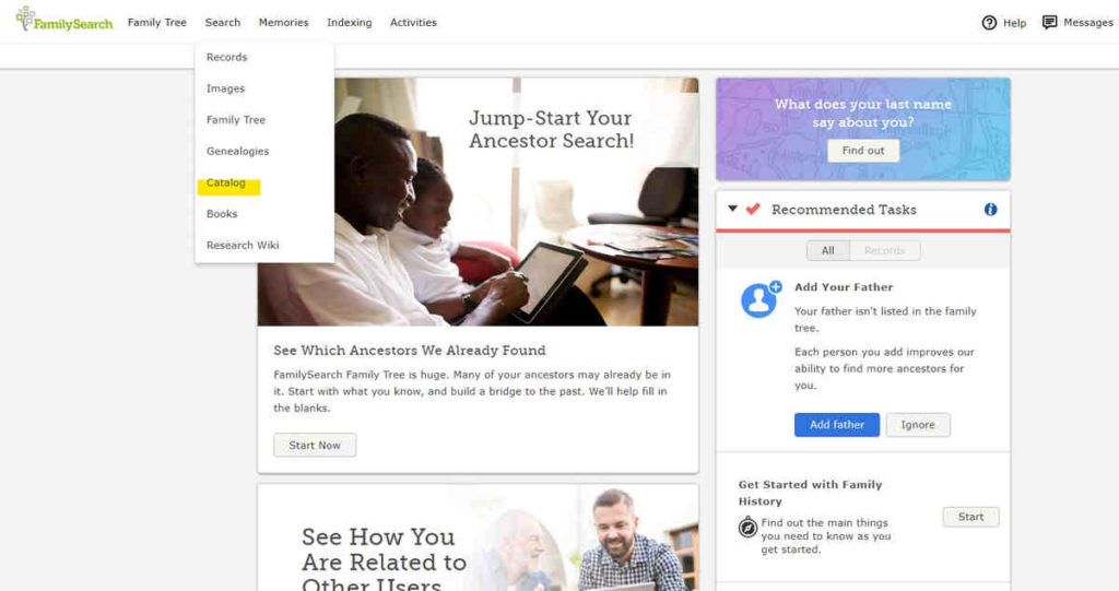 Familysearch baza aktów metrykalnych i wyszukiwarka
