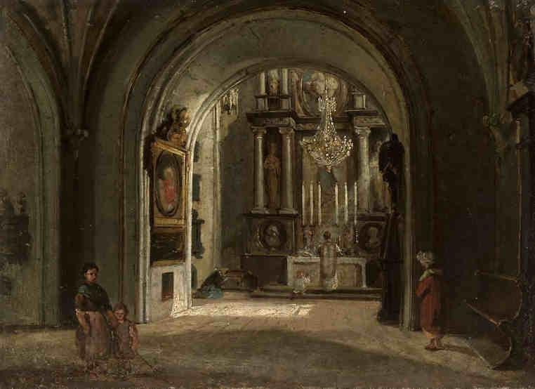 Wyszyński - wnętrze kościoła św. Jana w Warszawie Muzeum Warszawy