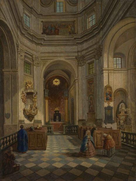 Wyszyński - wnetrze kościoła Sakramentek w Warszawie Muzeum Warszawy