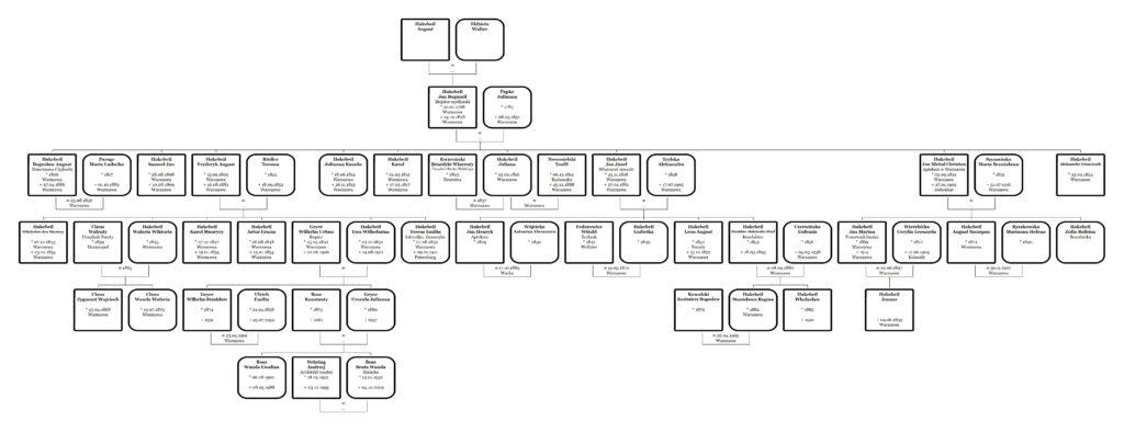 drzewo genealogiczne Jana Bogumiła Hakebeil